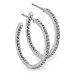 J by Jasper Conran - Crystal fine hoop earring