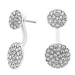 J by Jasper Conran - Designer crystal embellished double disc drop earring