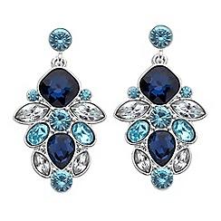 J by Jasper Conran - Designer blue tonal chandelier earring