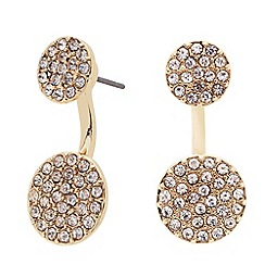 J by Jasper Conran - Pave crystal front back earring