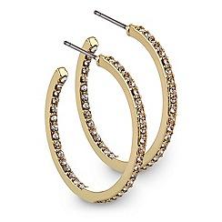 J by Jasper Conran - Designer crystal embellished fine hoop earring