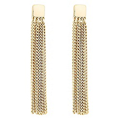 J by Jasper Conran - Designer gold polished tassel earrings