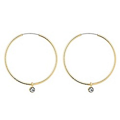 J by Jasper Conran - Designer gold hoop with crystal drop earrings