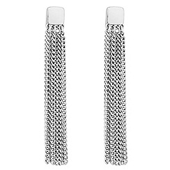 J by Jasper Conran - Designer silver polished tassel earrings