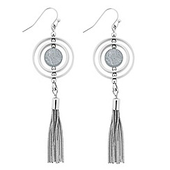 J by Jasper Conran - Marble stone circle tassel drop earring