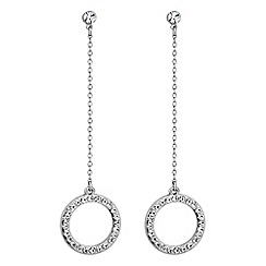 J by Jasper Conran - Designer gold pave crystal circle earrings