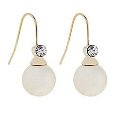 J by Jasper Conran - Designer Cream pearl and crystal drop earring