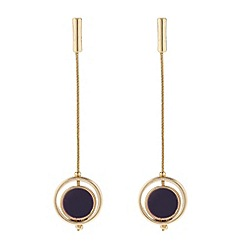 J by Jasper Conran - Designer maroon circle drop chain earring