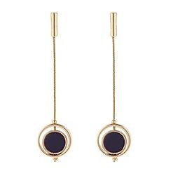 J by Jasper Conran - Designer maroon circle drop chain earring