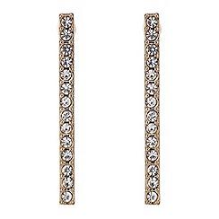 J by Jasper Conran - Designer Rose gold crystal stick earring
