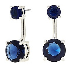 J by Jasper Conran - Designer Blue crystal front and back earring