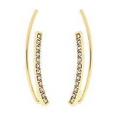 J by Jasper Conran - Designer gold crystal curved ear crawler earring