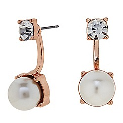 J by Jasper Conran - Designer Pearl and crystal front and back earring