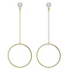 J by Jasper Conran - Designer Gold crystal hoop chain drop earring