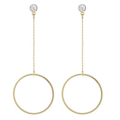 J by Jasper Conran - Designer Gold crystal hoop chain drop earring