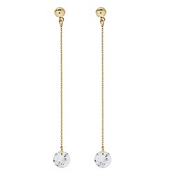 J by Jasper Conran - Designer Gold cubic zirconia chain drop earring