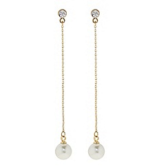J by Jasper Conran - Designer Gold pearl chain drop earring