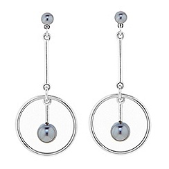 J by Jasper Conran - Designer pearl centre drop ring earring