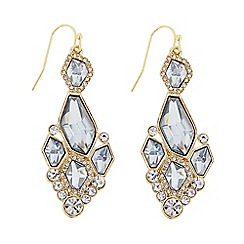 J by Jasper Conran - Designer gold crystal statement earring