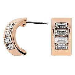 J by Jasper Conran - Designer Rose gold crystal half hoop earring