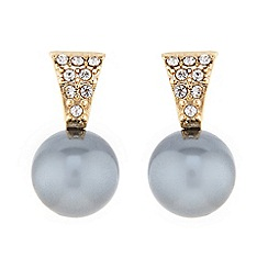 J by Jasper Conran - Designer grey pearl drop stud earring