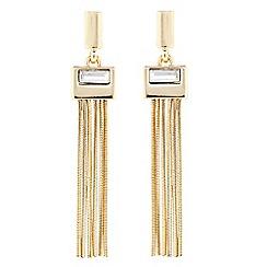 J by Jasper Conran - Designer silver crystal tassel drop earring