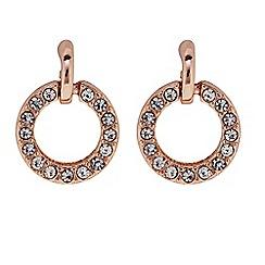 J by Jasper Conran - Designer Rose gold crystal circle drop earring