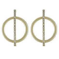 J by Jasper Conran - Designer pave stick and circle stud earring