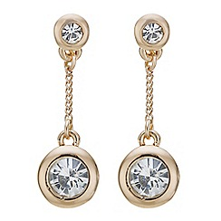 J by Jasper Conran - Designer rose gold crystal drop earring