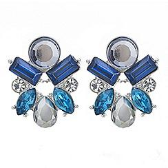 J by Jasper Conran - Designer teal stone cluster stud earring