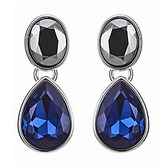 J by Jasper Conran - Designer blue and grey crystal drop earring