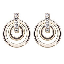 J by Jasper Conran - Designer gold mini pave circle earring