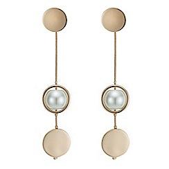 J by Jasper Conran - Designer rose gold pearl drop earring