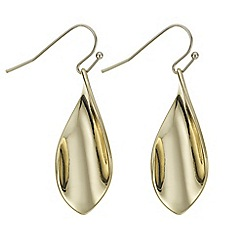 J by Jasper Conran - Designer gold twisted droplet earring