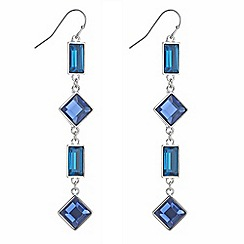 J by Jasper Conran - Designer blue and teal square drop earring