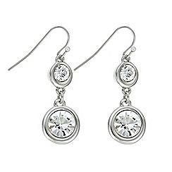 J by Jasper Conran - Designer silver double crystal earring