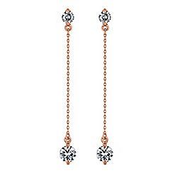 J by Jasper Conran - Designer rose gold crystal chain earring