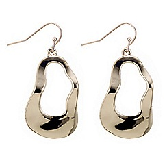 J by Jasper Conran - Designer gold curved oval hoop earring