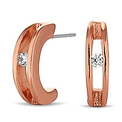 J by Jasper Conran - Designer rose gold hoop earring