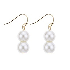 J by Jasper Conran - Designer gold double pearl earring