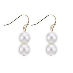 J by Jasper Conran - Designer gold double pearl earring