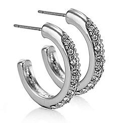 J by Jasper Conran - Designer silver crystal hoop earring