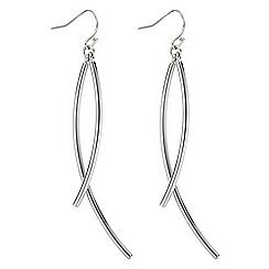 J by Jasper Conran - Designer silver stick twist earring