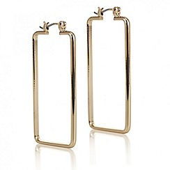 J by Jasper Conran - Designer rose gold rectangular earring