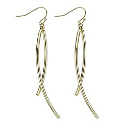 J by Jasper Conran - Designer gold stick twist earring