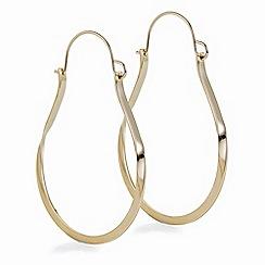 J by Jasper Conran - Designer gold textured hoop earring