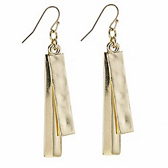 J by Jasper Conran - Designer gold double stick earring