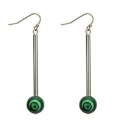 J by Jasper Conran - Green ball gold earring