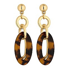 J by Jasper Conran - Tortoise shell oval earring