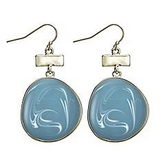 J by Jasper Conran - Marble swirl disc earring